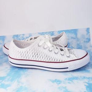 Converse White Crochet Lace Shoes
